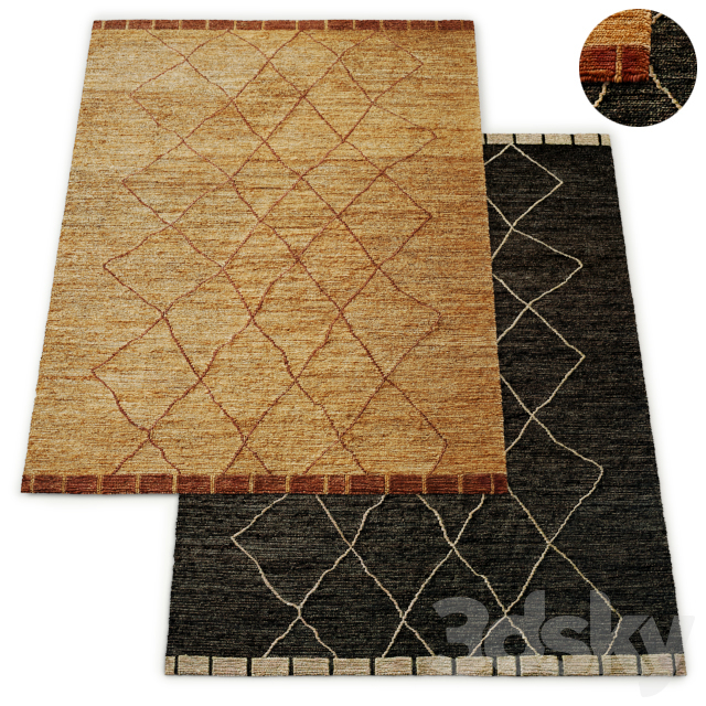 Ambar Hand-Knotted Jute Rug RH Collection