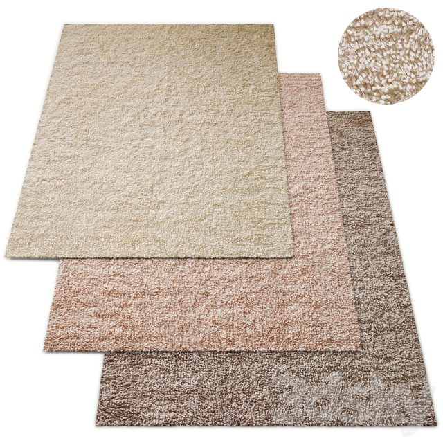Chunky Twist Handwoven Wool Rug RH Baby and Child Collection