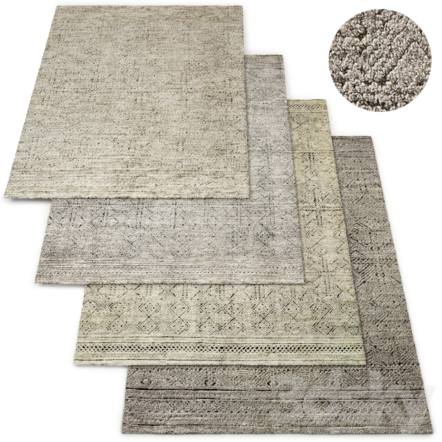 Cava Hand-Knotted Wool Rug RH Collection