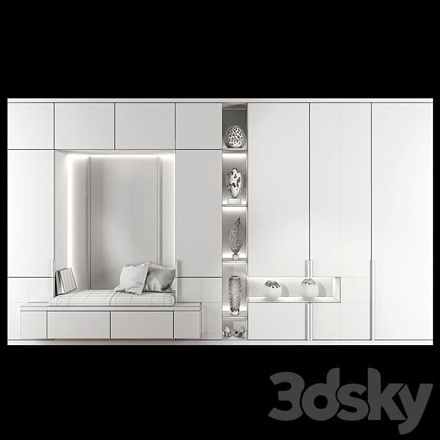 Wardrobe hallway composition set 02