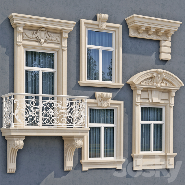 Windows in the style of modern classic 6
