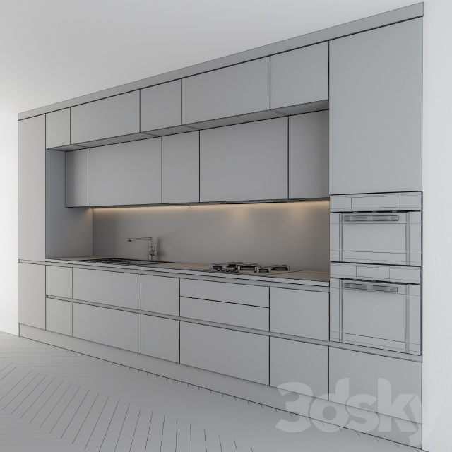 Kitchen modern Gray and Wood