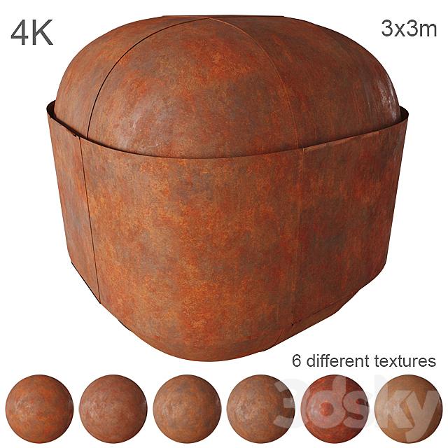 Corten steel - pack 6 textures - 4K