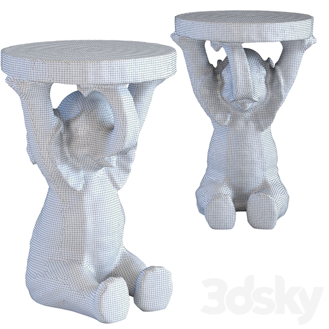 Side Table Animal Elefant