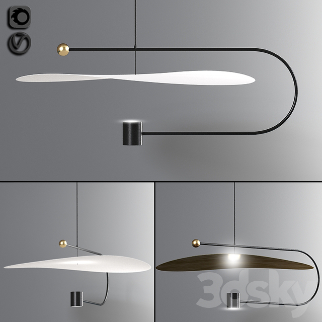 Float wide pendant light
