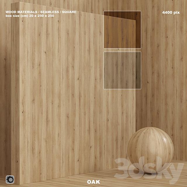 Wood / oak material (seamless) - set 85