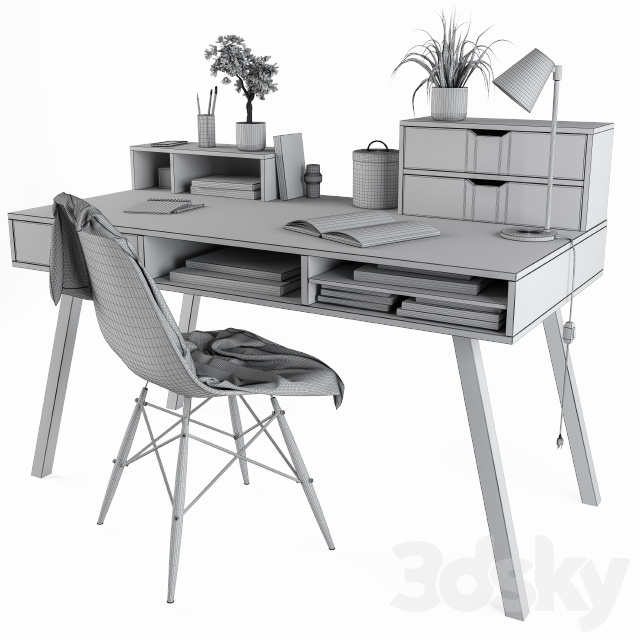 Home Office Table Wooden