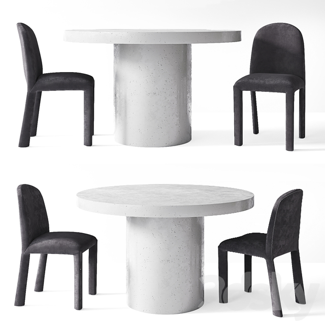 3d Models Table Chair Coco Republic Morisson Dining Chair Regent Concrete Dining Table