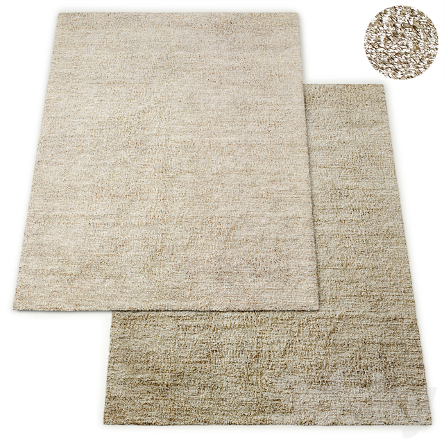 Pavia Handwoven Nepali Lambswool Shag Rug RH Collection