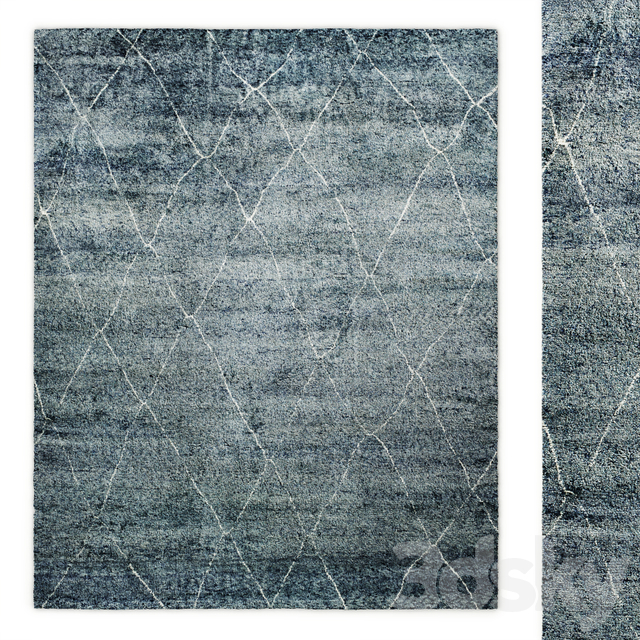 Riah Moroccan Hand-Knotted Wool Shag Rug Restoration Hardware