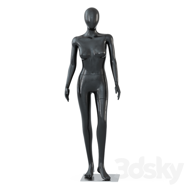 Female black mannequin in a standing pose 55