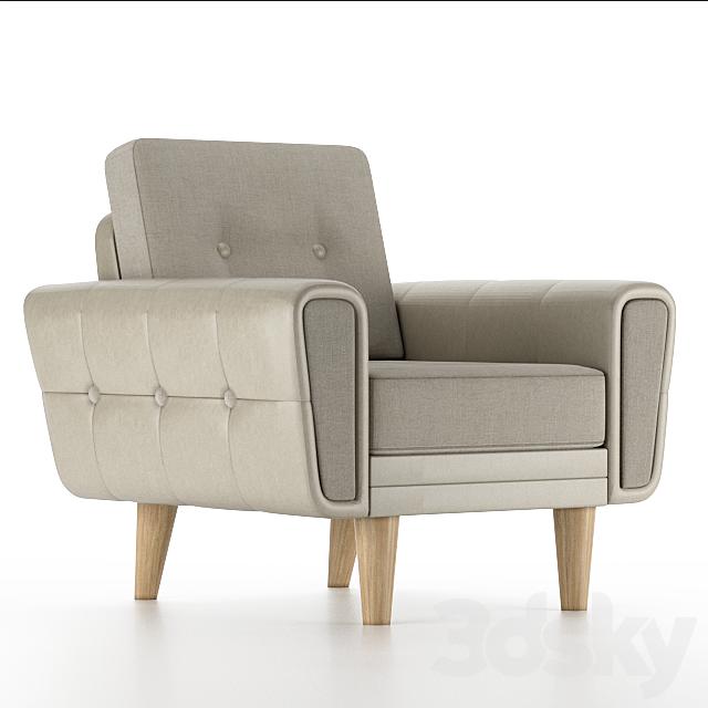 3d models: Arm chair - Harvey armchair