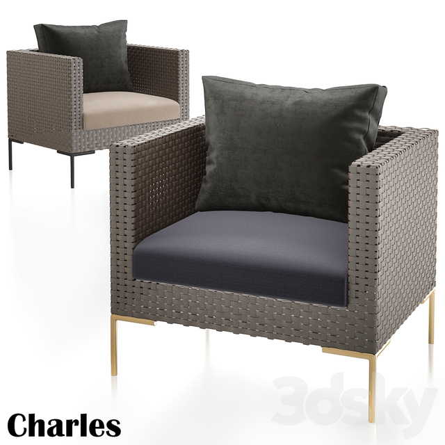 Charles Outdoor Armchairs Antonio Citterio