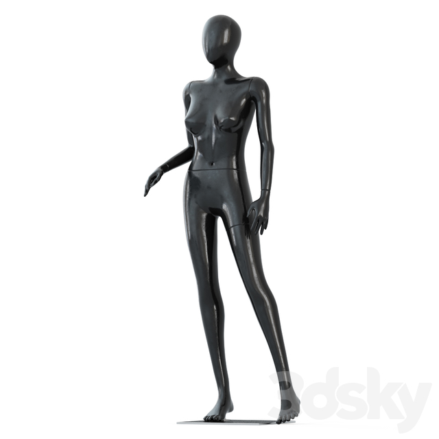Female black mannequin in a standing pose 57