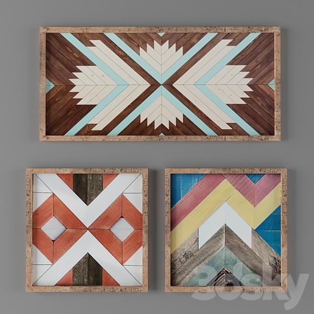 11 wood wall work_scandinavian_rustic_old frame_ikea