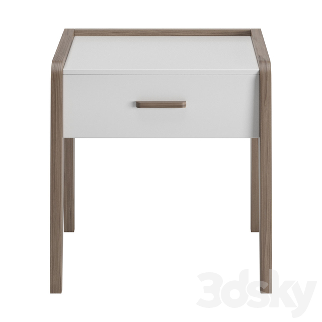 Altero one drawer bedside