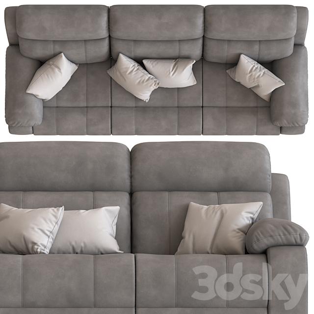 3-Seater Modular Sofa with Foot lift