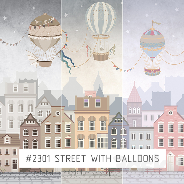 Creativille   Wallpapers   2301 Street with Balloons
