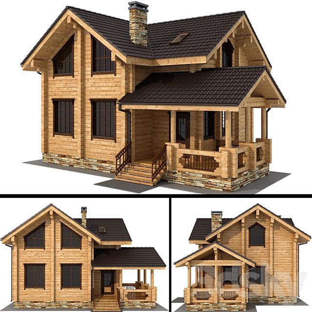 Laminated log cottage