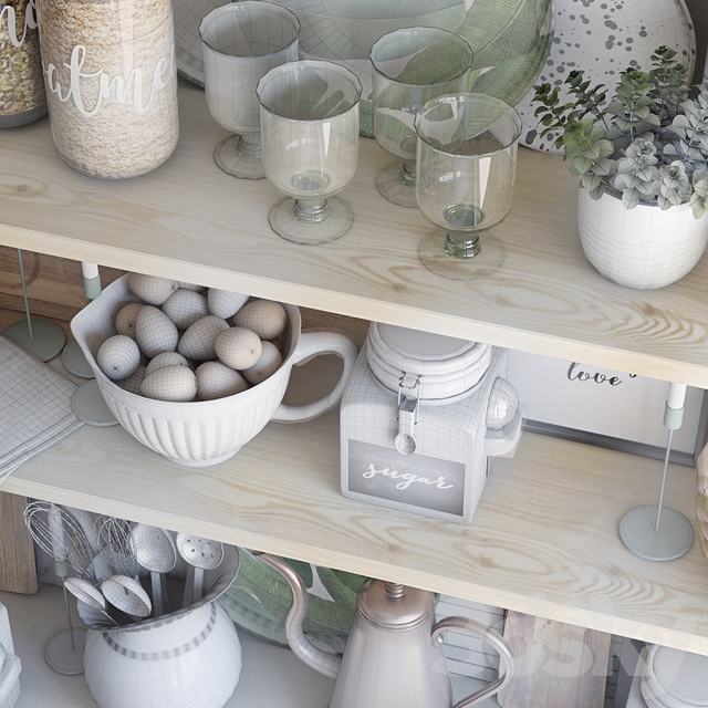 Decorative set for the kitchen 8