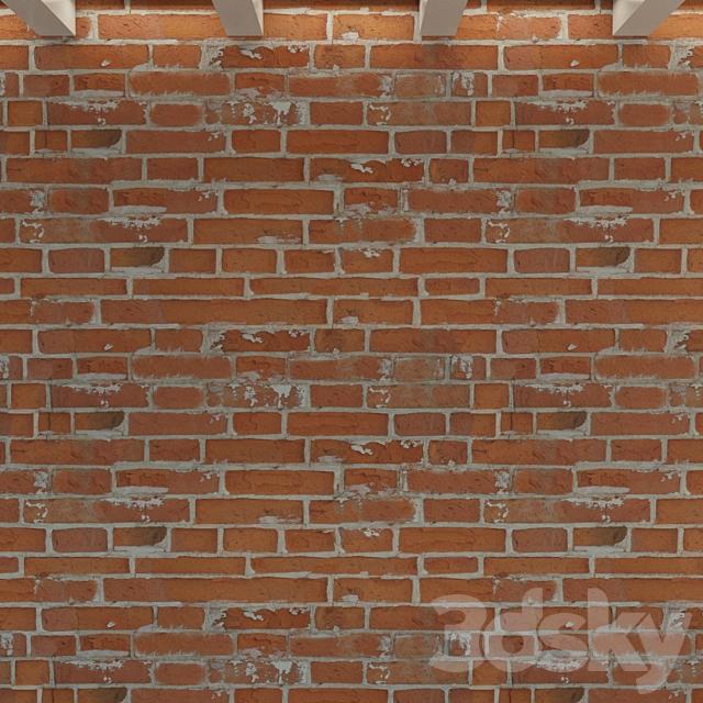 Brick wall. Old brick. 116