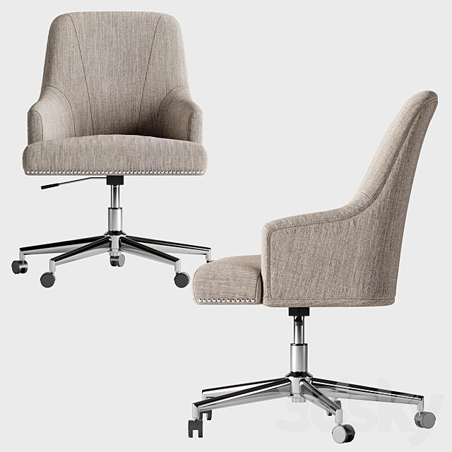 3d Models Office Furniture Serta Leighton Home Office Chair Soft Medium Gray