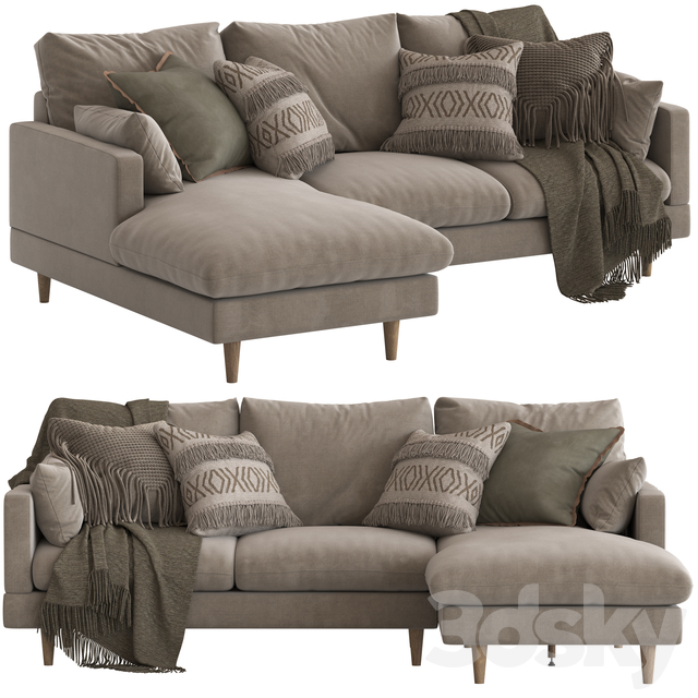 Temple and Webster Silas Sofa 3seater with chaise