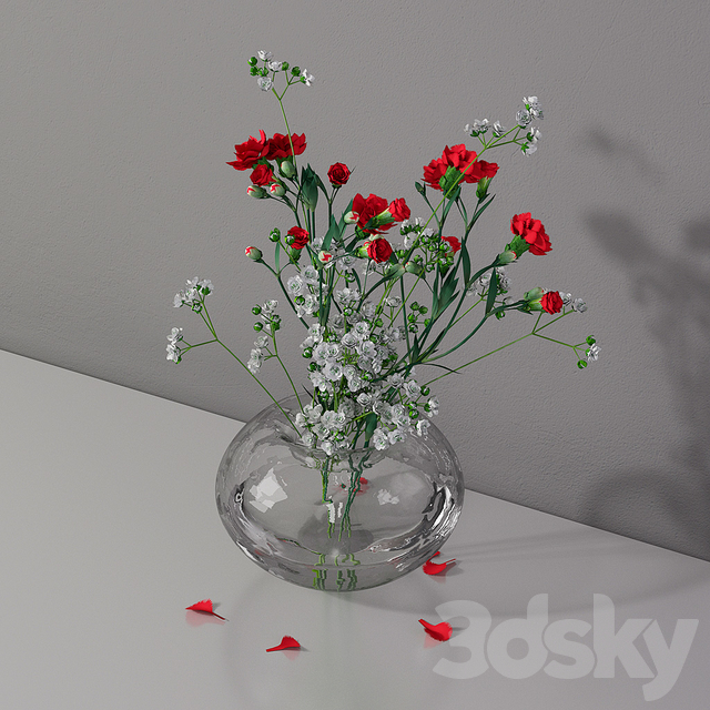 Bouquet 1 white red