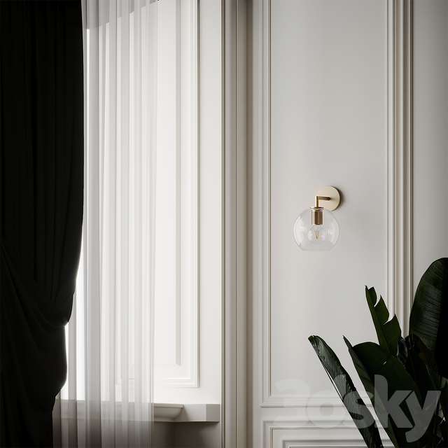 Utilitaire Globe Shade Single Sconce 3 Type Materials