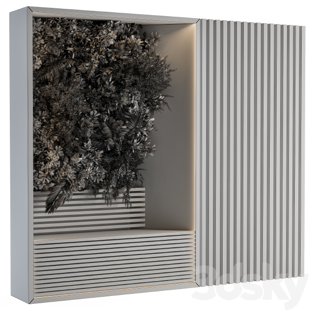 Wall Panel with Vertical Garden