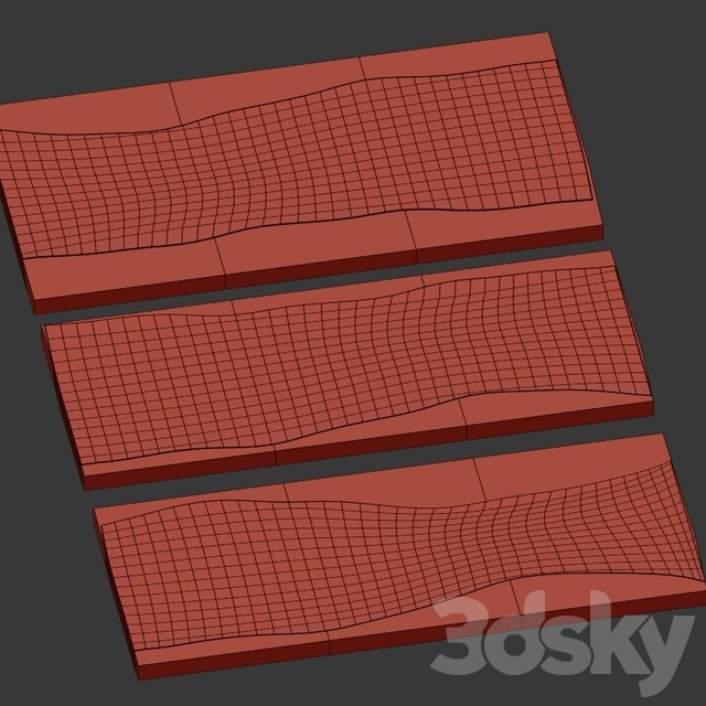 Wood and epoxy slabs.