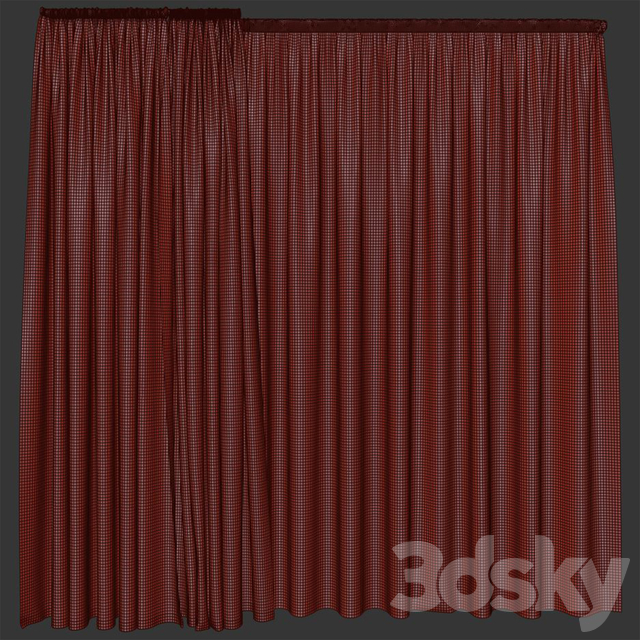 Curtains are scarlet