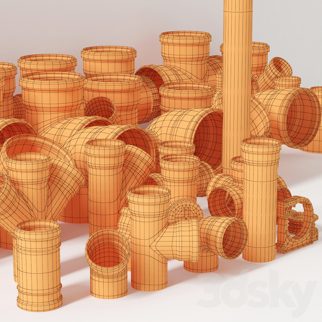 Sewer pipes collection counstraction / Sewer fittings constructor