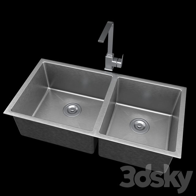 Bellano Hm4486 Bl Stainless Steel Top Mount