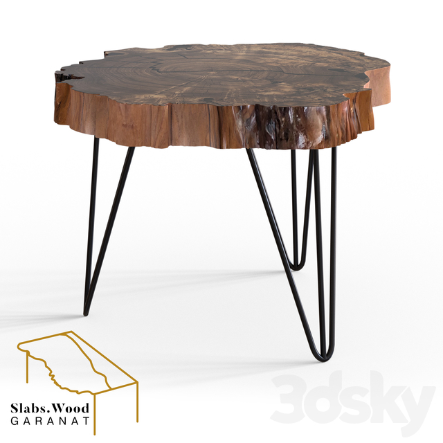 Round Table From Slab