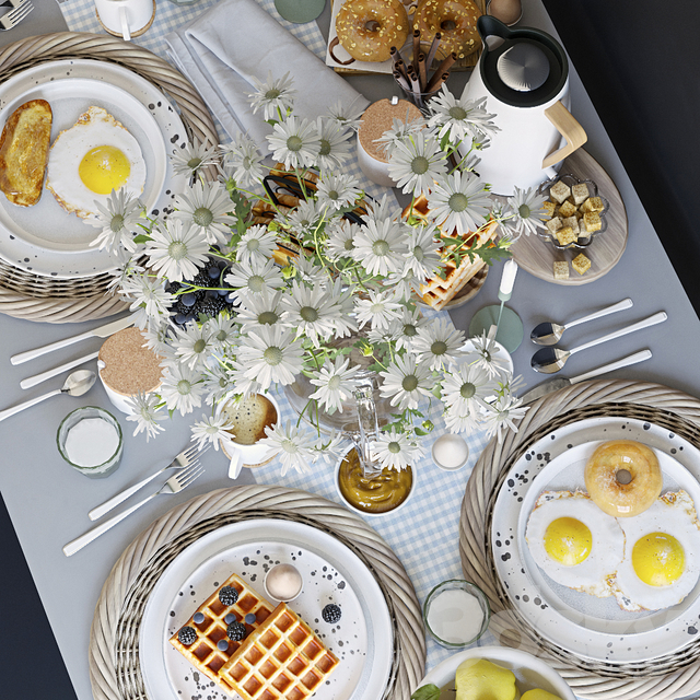 Table setting 36. Breakfast - 3