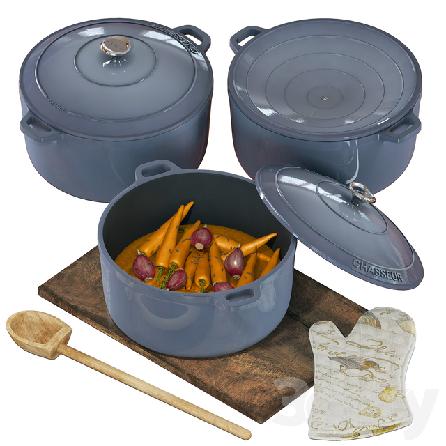 Chasseur Kitchen Set with Vegetables
