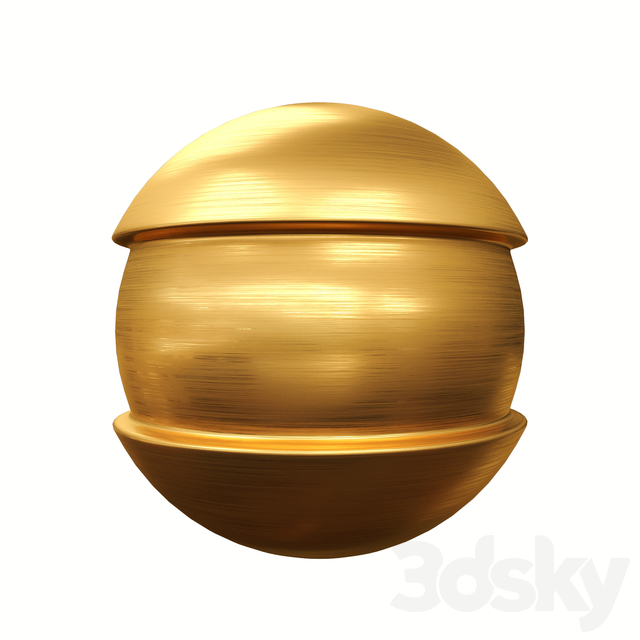 Brushed gold material