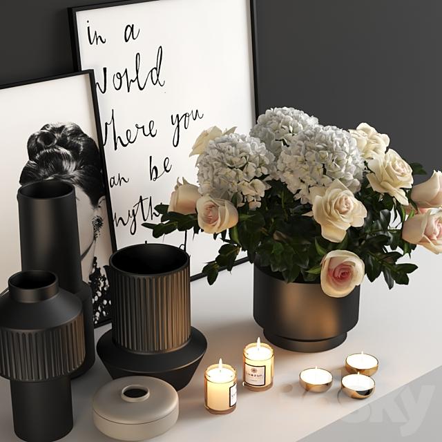 set318 -black bouquet