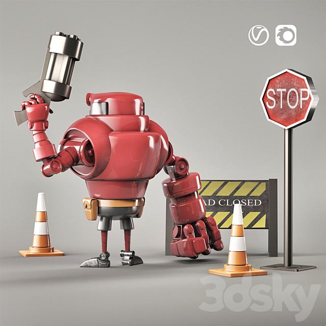 Hellboy toy robot