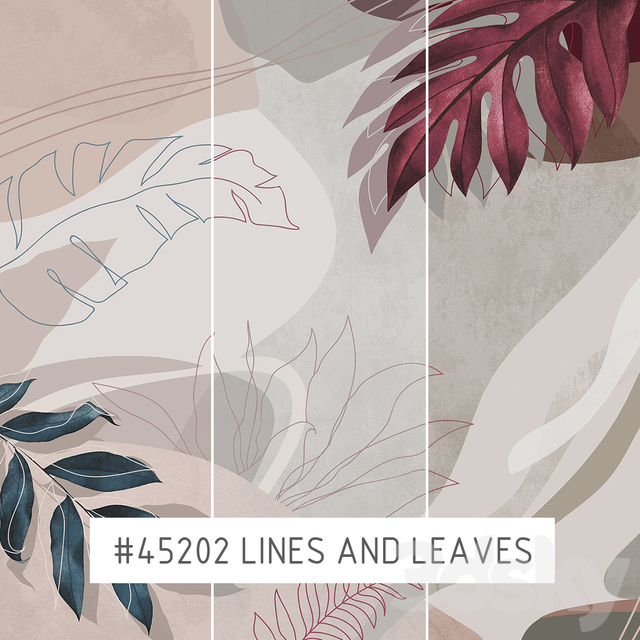 Creativille | Wallpapers | 45202 Lines and Leaves