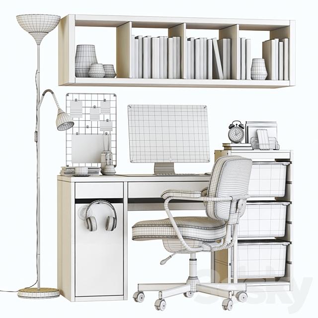 ikea micke white workplace