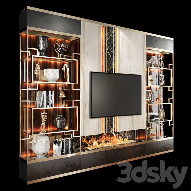 TV Wall Units set 05