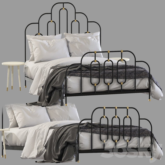 Bed Anthropologie art deco bed