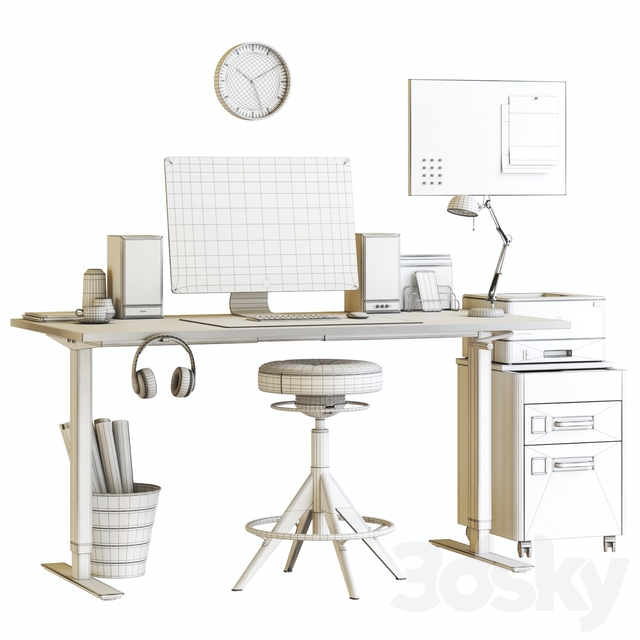 Ikea SKARSTA home and office workplace