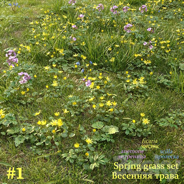 Spring grass set #1