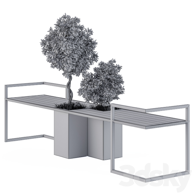 Urban Furniture / Metal and Wood Bench