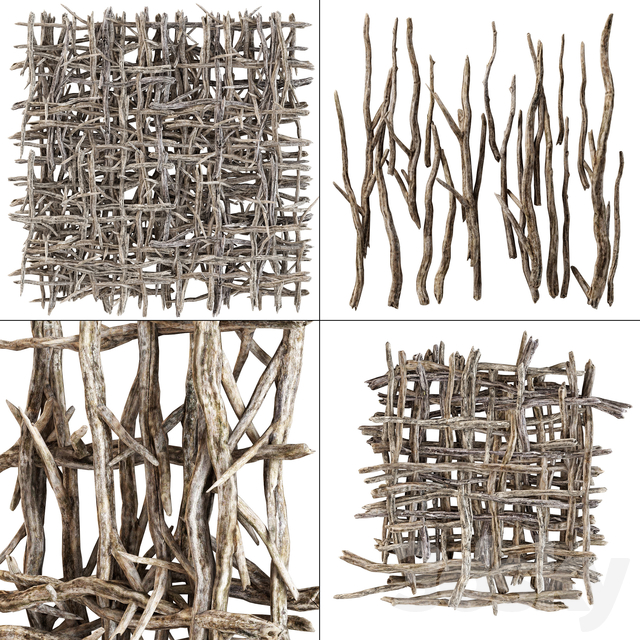 Branch crooked decoration part n1 / Curve branches for decoration n1