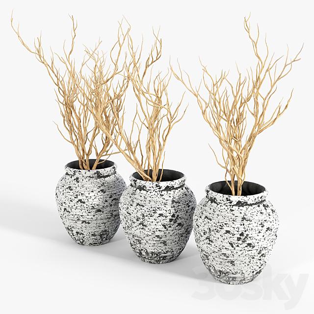 Axl Cement Pot Planter 01