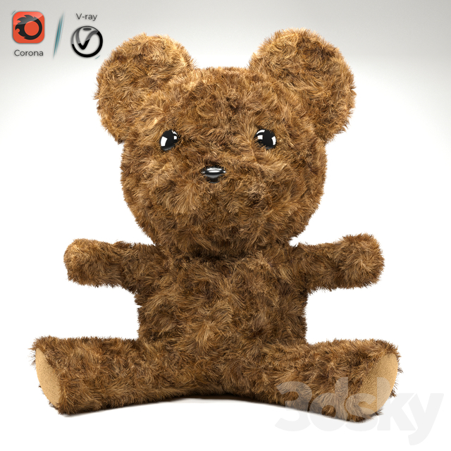 Doll teddy bear